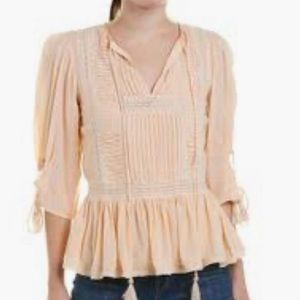 Love Sam embroidered flattered peach blouse